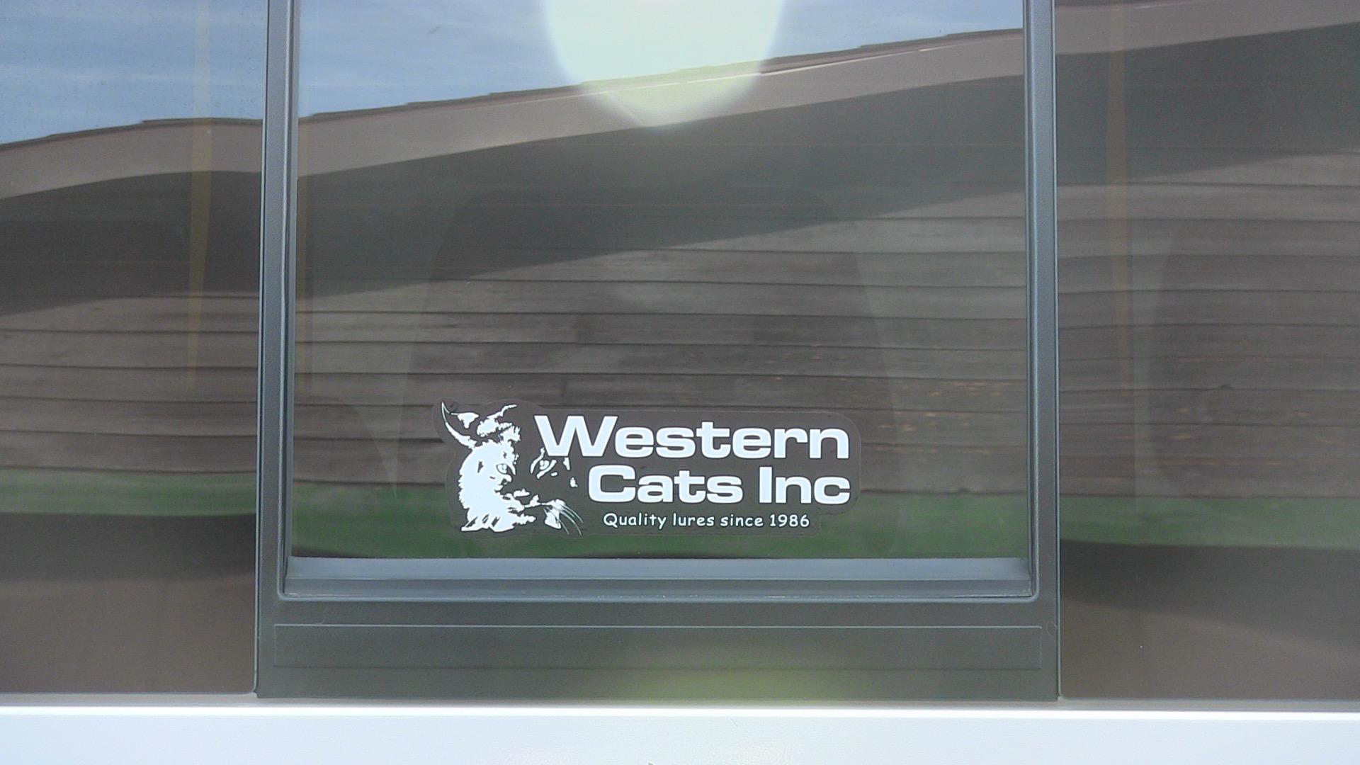 Western Cats Window Sticker
